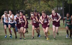 Sophomore Everett Schroeder, junior Brody Dowling, and seniors Bram Mansbach, Kavi Jakes, Elias Podber, Jack Palaian, and Luke Langan start the Region 6-AAAAA Cross Country championsip. The boys finished 2nd.