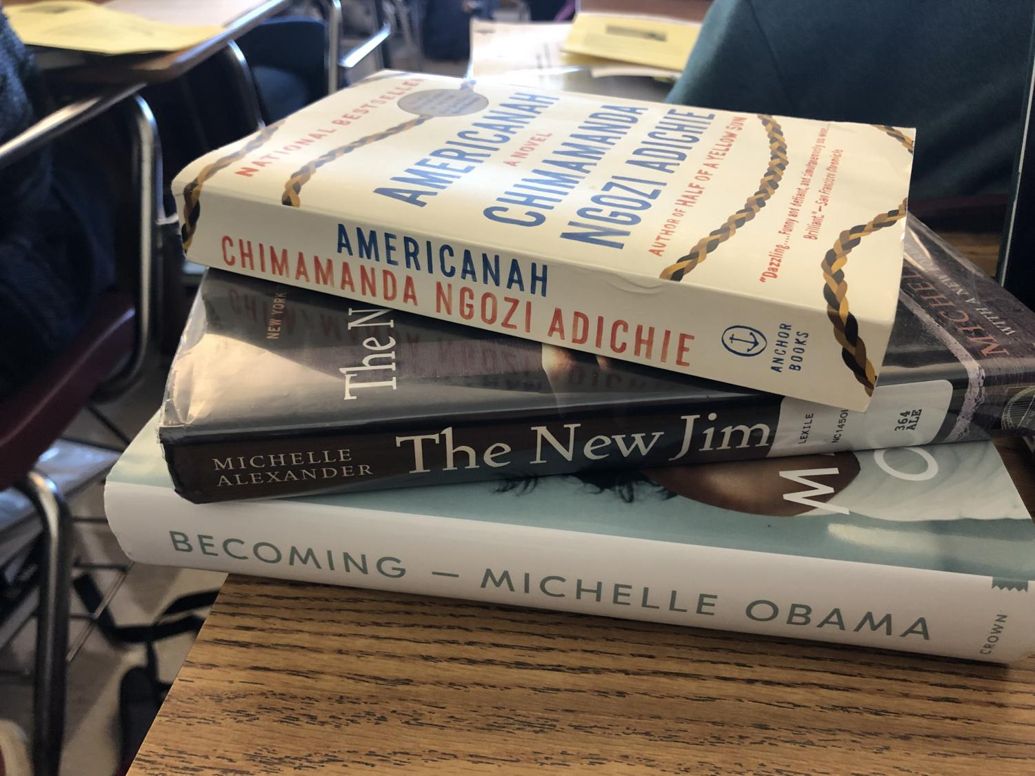 STACK THEM UP: Grady literature curriculum currently leaves most diverse books for supplemental reading while the required curriculum remains largely untouched.