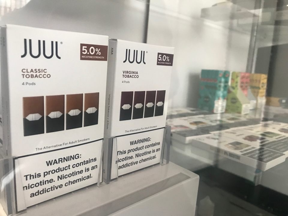 Juul pods are sold in flavors like mint, mango, tobacco and menthol. Each colorful pod contains as much nicotine as a pack of cigarettes.