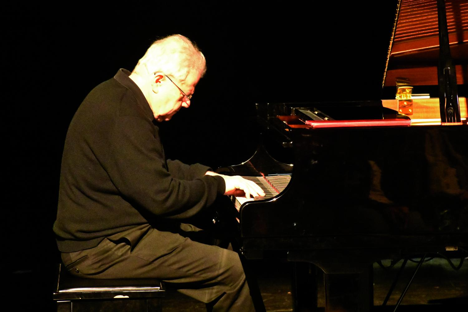 World renowned pianist, Emanuel Ax, plays Beethoven in the Vincent Murray Auditorium at Grady High School. Through his music, Ax has learned the value of practice.