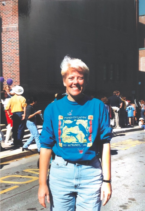 Grady+principal+Dr.+Betsy+Bockman+stands+outside+Morningside+Elementary+School%2C+where+she+took+her+first+job+as+principal+in+1996.+
