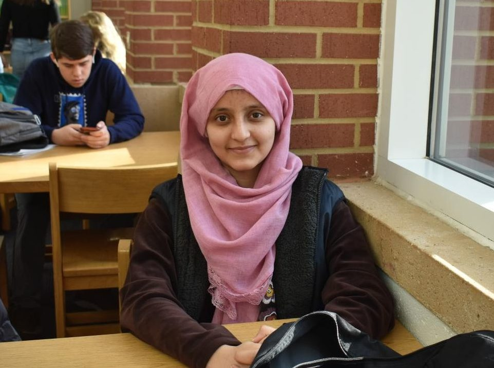 Sophomore Athika Khpulwak spends her lunch period in the library.