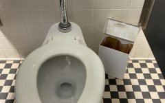 Faulty sanitary disposal boxes pose a threat to students' hygiene.