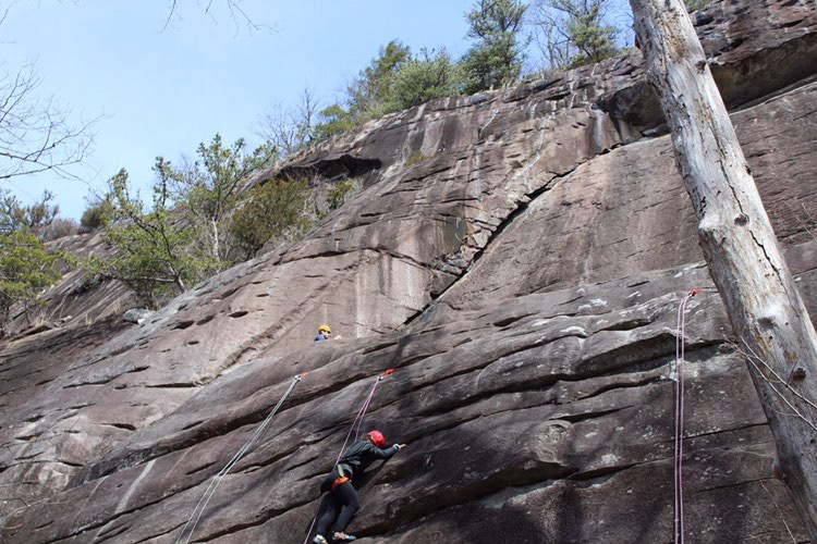 Senior Mia Prausnitz-Weinbaum was involved in activities such as rock climbing in addition to her classes at Outdoor Academy.