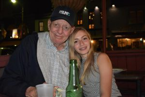 My grandfather, Michael McCullough, and I eat dinner together in Annapolis, Maryland, where he attended the United States Naval Academy. Michael died on April 18 from COVID-19.