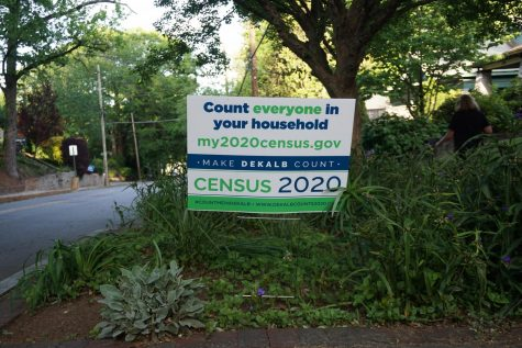 Yard signs encouraging people to fill out the 2020 Census have popped up in the midst of the COVID-19 pandemic.