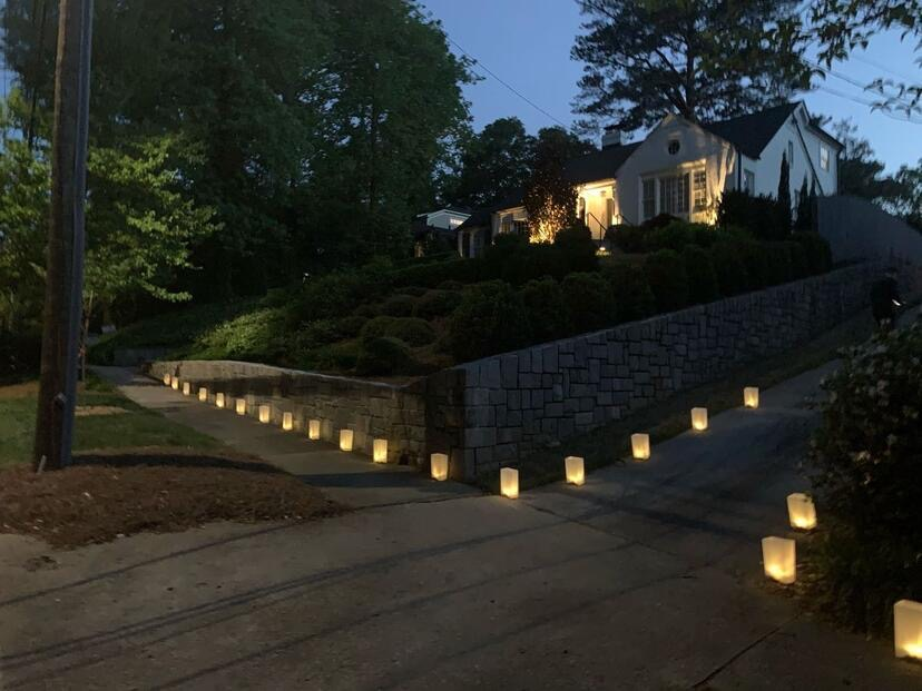 LIGHT UP THE NEIGHBORHOOD: Several houses in the Morningside/Lenox area displayed luminaries to show support for healthcare workers.