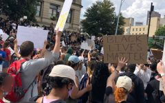 Nonviolent protestors marched to the Georgia State Capitol and gathered to protest police brutality on May 29, 2020.