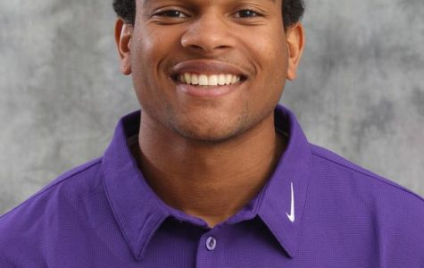 Gerren Griffin poses for his player photo as a redshirt junior playing football at JMU.