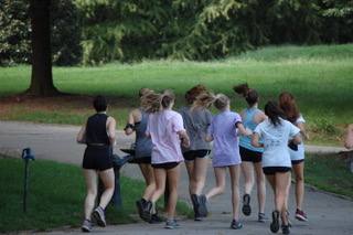 The girls Cross Country team practices every weekday afternoon at Piedmont park.