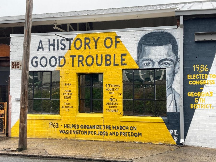 A+mural+on+Krog+Street+commemorates+the+late+U.S.+Representative+John+Lewis%2C+for+whom+APS+launched+the+%22Good+Trouble%22+voter+registration+campaign+to+honor.