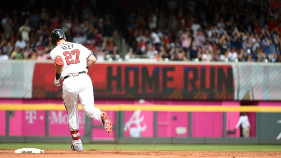 Left fielder Austin Riley runs the bases after hitting a homerun in the 2019 season. Riley was a key piece to the Braves and their overall success in the shortened 2020 season.