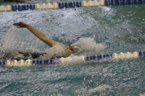 Sophomore Jory Richardson swims the 100 yard backstroke, an event she has the Grady record in.