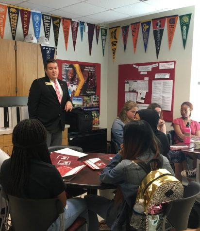 Jim Landers, Director of Undergraduate Admissions at The University of Alabama, talked to students last fall at the College Career Center (CCC). Because of online school, the CCC is holding virtual college visits, so students are still able to learn more about different schools.