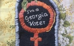 Junior Sophie Markovic is using her art work to spread awareness about various social issues. The patch above symbolizes the 100 year anniversary of the 19th amendment and draws awareness to the importance of voting.