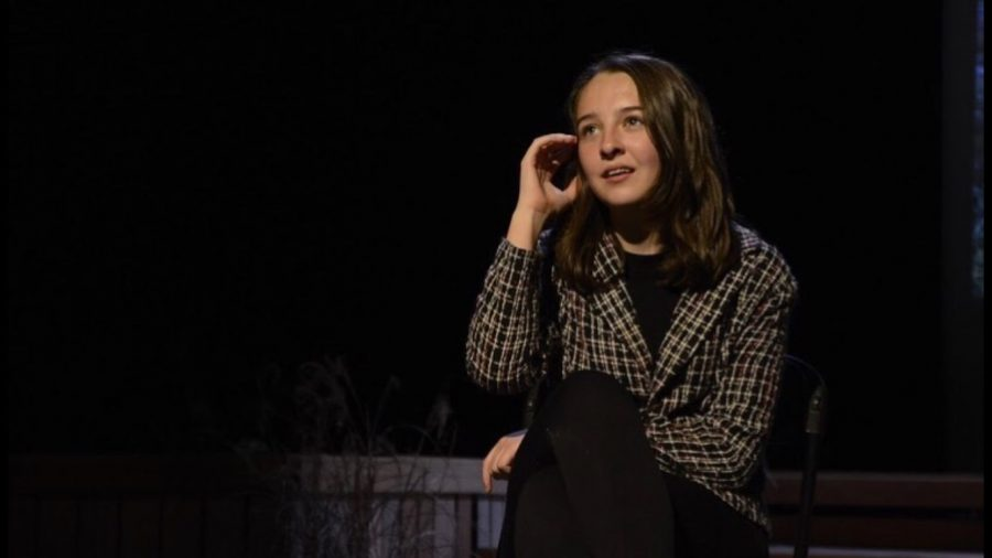 Junior Madeline Moye is seen playing character Deb Thomsen in Grady Drama's,