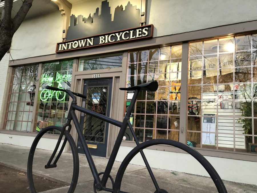 Intown+Bicycles%2C+located+in+Midtown+on+Monroe+Drive%2C+has+seen+consumer+demand+for+bikes+increase+since+the+pandemic+while+supply+has+run+out.+Other+bike+stores%2C+and+the+bike+industry+as+a+whole%2C+has+faced+a+similar+situation.