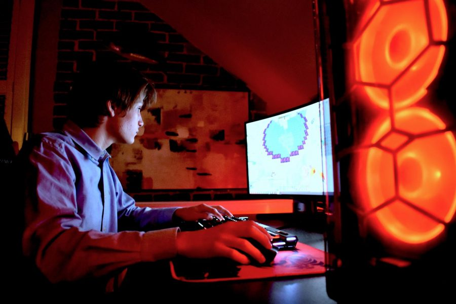 "Senior Kai Anderson, a Minecraft server owner, visits his Avatar bending server, which has more than 250,000 users. ""I didn't just have a good feeling about this place,"" Anderson said. ""I knew the effort that I was putting in here, 12, 13 hours a day for like an entire month straight, just trying to put this place together, I knew that was gonna mean something."""