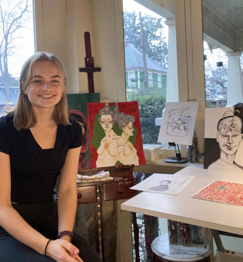 Sophomore Aden Mikus places in All-State art competition