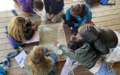 Students at Outdoor Academy were able to enjoy the hallmarks of pre-pandemic life, such as the group-based, in-person learning shown, in a safe environment.