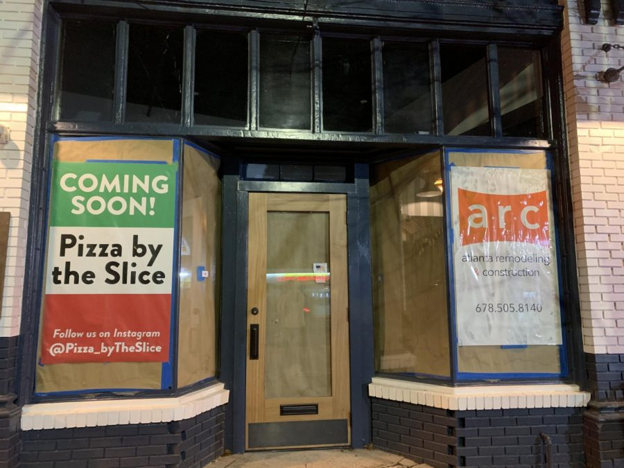 Still under construction, the former Goin' Coastal location is now split into two different units, one will house Pizza by the Slice. The new restaurant is owned by the owner of O4W Pizza.