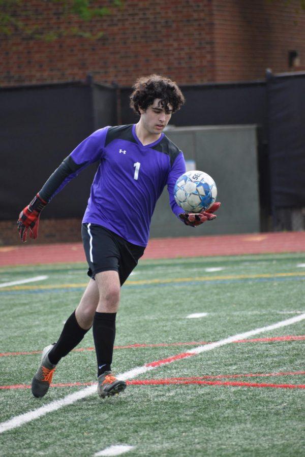 Chris Walker plays goalkeeper for Grady's soccer team.