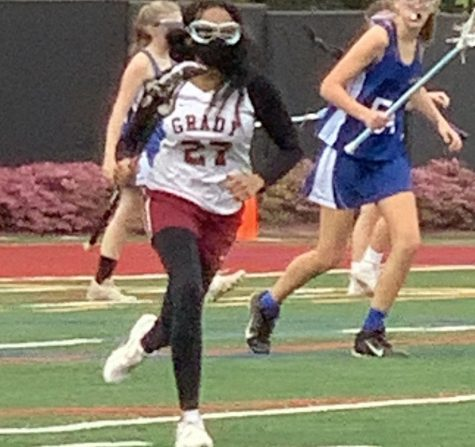 Mohammed during a Grady lacrosse game this season.