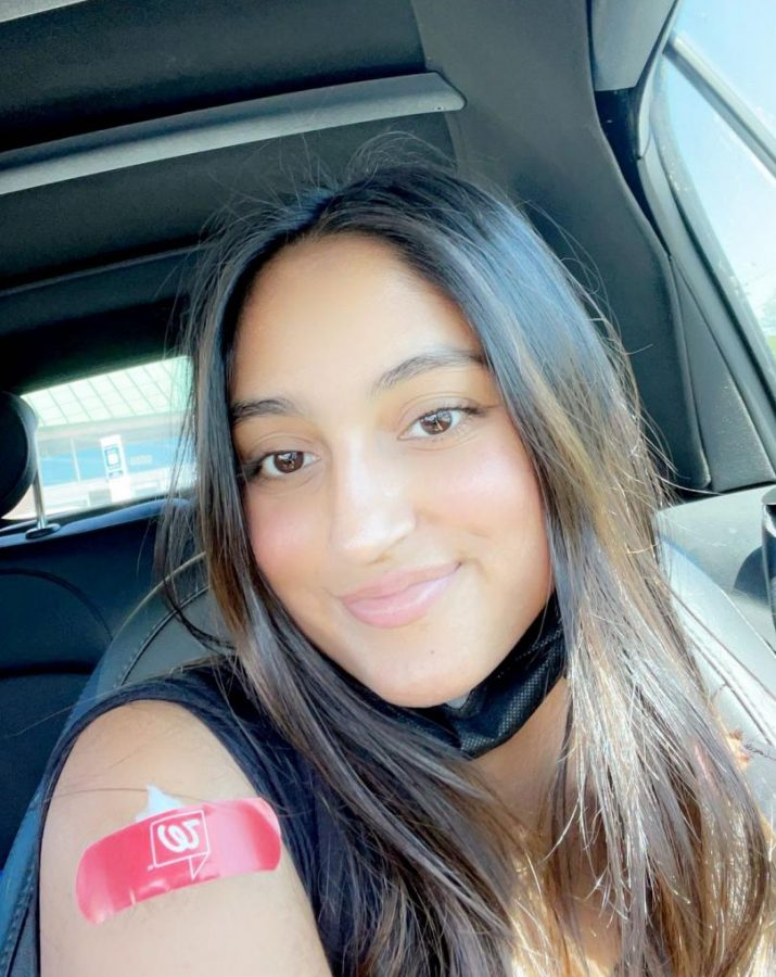 Senior Zoya Charania received the Pfizer vaccine on March 31. She says getting vaccinated will allow for more freedoms. Like Charania, many other eligible Grady students have received the first dose of the vaccine.