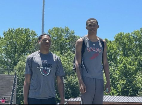 Despite a less successful performance at the state track meet than the boys would have hoped, there were still some accomplishments including senior Xavier Sessoms (pictured) placing 6th in the high jump, junior Everett Schroeder placing 5th in the 800 and senior Fred Hamilton placing 7th in the 400 and the 300 Hurdles.