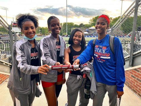 The girls 4x100 meter relay team competed at the state track meet in 2021. Overall, the Grady girls track team placed 10th at the meet, capping off a successful season.