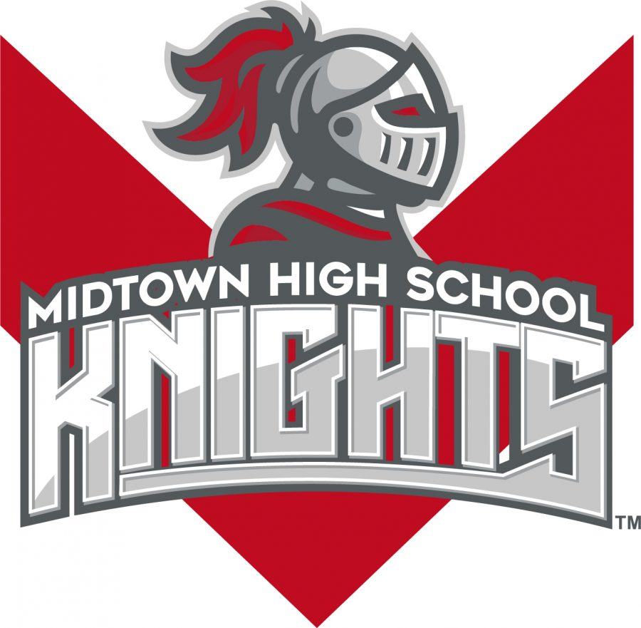 The athletic logo will be used in various athletic departments. Even with the new changes, the advisory team decided to keep the Knight as the school's mascot and red and grey as the school's colors.