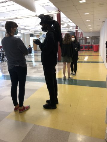 Students participate in weekly surveillance testing at Grady. The program has reduced the spread of COVID-19 in APS schools.