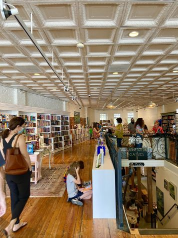 """Virginia Highland Books offers the city of Atlanta a quiet, cozy escape. """"This bookstore just fits the neighborhood so perfectly,"""" owner Sandy Huff said."""