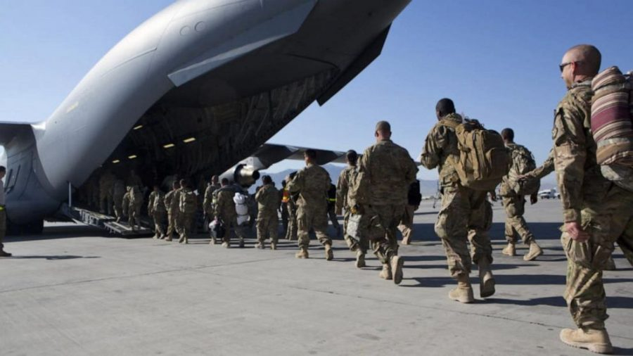 U.S. soldiers leaving Afghanistan, a country where some have fought for years.