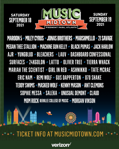 Music Midtown, a two-day event in Piedmont Park, lists over 30 artists for their upcoming show.