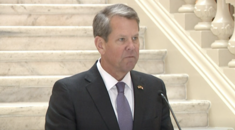 Georgia Governor Brian Kemp announces an executive order that allowed businesses to choose whether to follow local Covid-19 guidelines during an 11Alive news broadcast.