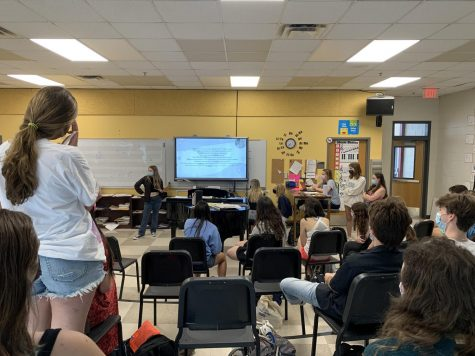 At the clubs first meeting, members participated in a number of games related to Taylor Swifts nine albums. The next meeting will be in late October.