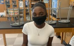 Aaliyah Anthony smiles in her AP Biology class.